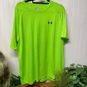 Under Armour Heat Gear Loose Green Tee T-Shirt 2XL